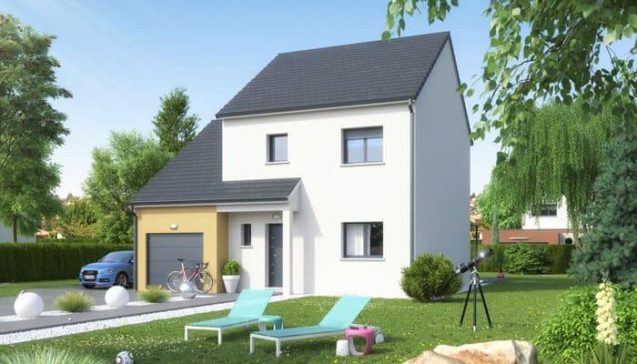 Super Plan maison traditionnelle : plan maison gratuit, plan 3D CO54