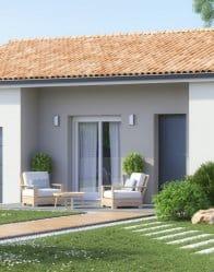 Maison neuve Ariane - Porche rentrant