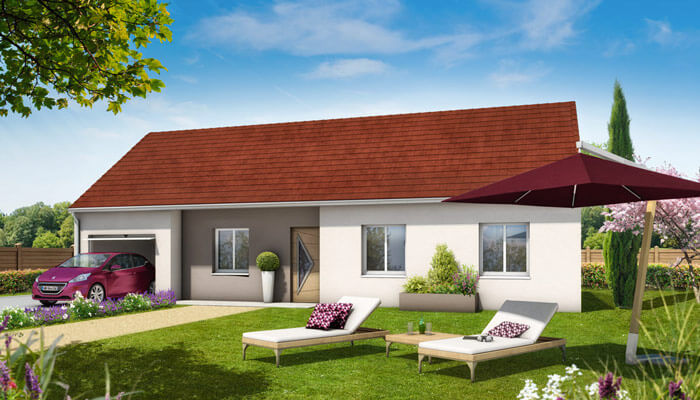 Plan maison 3d violette maison traditionnelle for Simulation construction maison 3d gratuit