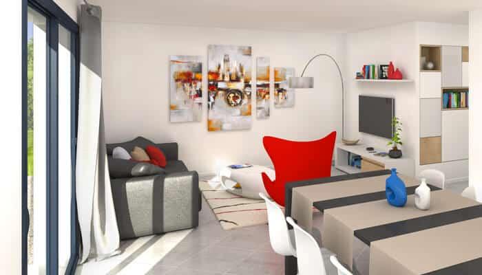maison toit plat azur plan maison contemporaine. Black Bedroom Furniture Sets. Home Design Ideas