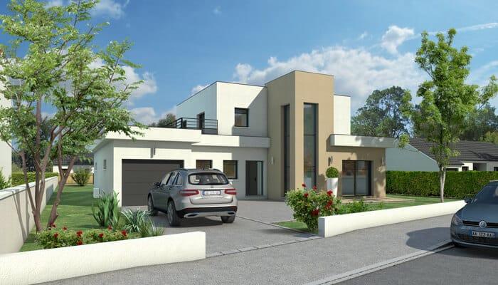 maison toit plat quartz maison d 39 architecte plan maison gratuit. Black Bedroom Furniture Sets. Home Design Ideas