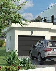 Maison d'architecte Quartz - garage à toit plat