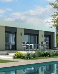 Maison contemporaine Jade - enfilade baies vitrées
