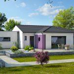 Maison moderne - garage à toit plat