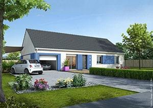 Maison individuelle jouez avec les textures et les couleurs for Couleur facade maison plain pied