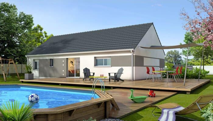 Plan maison gratuit amaryllis maison plain pied for Maison plain pied traditionnelle