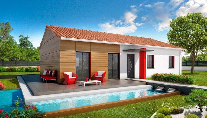 Maison de plain pied bali plan maison gratuit for Maison traditionnelle 100m2