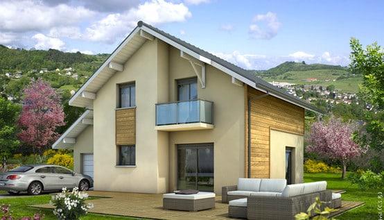 plan maison modulaire belledonne maison style savoyard. Black Bedroom Furniture Sets. Home Design Ideas