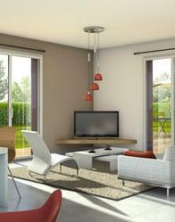 Vue 3D - maison modulaire