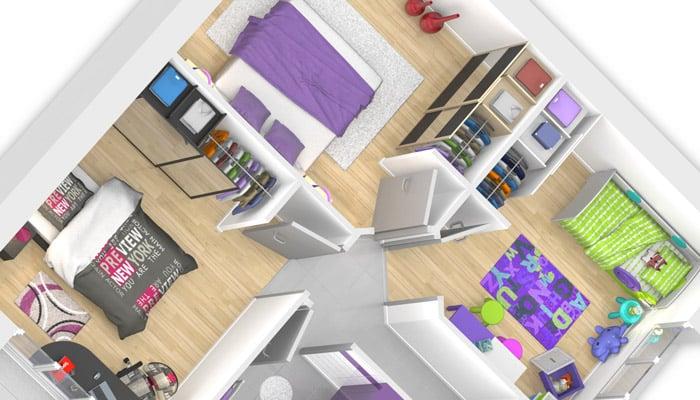 plan maison gratuit - espace nuit