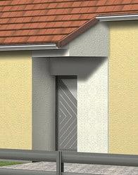 Maison individuelle - porche entrée