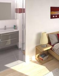Maison familiale - vue 3D salle d'eau