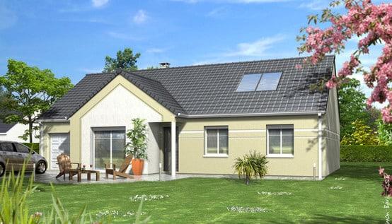 Maison familiale dahlia maisons clair logis for Plan toiture maison