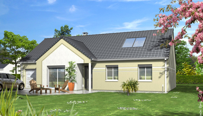 Beautiful plan maison familiale dahlia with modele maison for Modele maison a construire