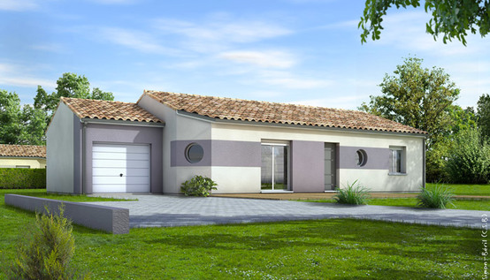 Maison traditionnelle de plain pied eridan plan maison for Exemple maison plain pied