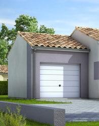 Garage accolé - maison modulaire Eridan