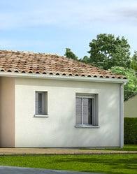 Maison plain pied avec tuiles canal