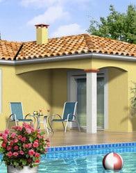 Maison en L Jacinthe - terrasse couverte