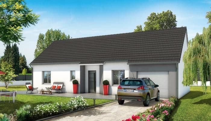 Plan maison 3d maison plain pied lila maisons clair logis for Construction maison 3d