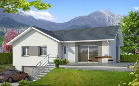 Plan maison en L Oisans