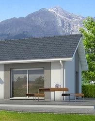 Maison individuelle avec enduit bi-ton