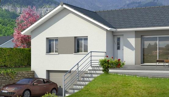 Plan de maison en L Oisans - plan maison gratuit
