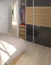 Plan maison en l topaze maison plain pied - Placard integre chambre ...