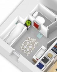 Plan maison 3D salle de bain