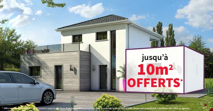 Faites construire votre maison jusqu 39 10 m2 offerts for Faites votre propre maison