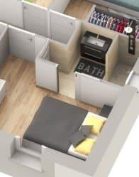plan maison 3D Ariane - chambre
