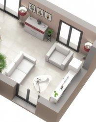 Plan maison Ecrin - Salon traversant