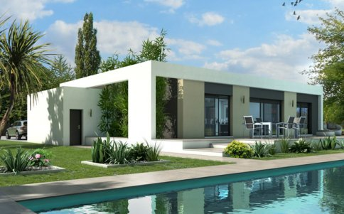 maison contemporaine : plan maison contemporaine gratuit, plan 3d - Plan Maison Contemporaine Toit Plat Gratuit