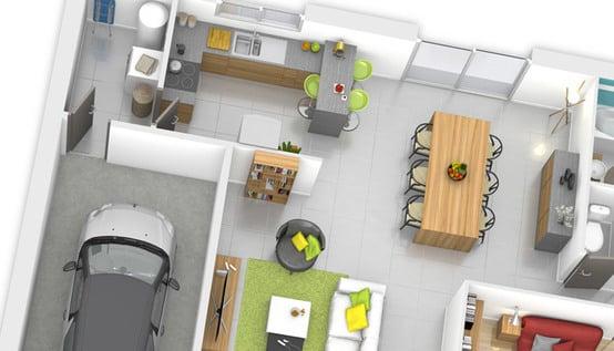 Plan maison plain pied fidji maison individuelle for Plan interieur de maison