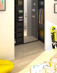 vue 3D dressing - maison individuelle Lauzière