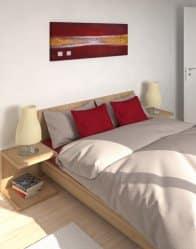 vue 3D chambre - maison contemporaine